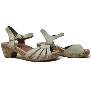 Dansko Sandals Clog Ankle Buckle Strap Open Toe